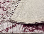 Handwoven Viscose & Cotton Flatweave 225x155cm Rug - Rose 5