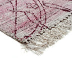 Handwoven Viscose & Cotton Flatweave 280x190cm Rug - Rose 2
