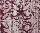 Handwoven Viscose & Cotton Flatweave 280x190cm Rug - Rose 4