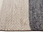 Handwoven Cotton & Wool Flatweave 225x155cm Rug - Blue 3