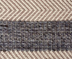 Handwoven Cotton & Wool Flatweave 280x190cm Rug - Blue 6