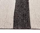 Handwoven Cotton & Wool Flatweave 320x230cm Rug - Charcoal 3