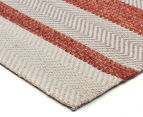 Handwoven Cotton & Wool Flatweave 280x190cm Rug - Copper 2