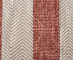 Handwoven Cotton & Wool Flatweave 280x190cm Rug - Copper 4