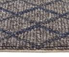 Handwoven Viscose & Wool 225x155cm Rug - Blue 3