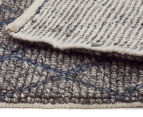 Handwoven Viscose & Wool 225x155cm Rug - Blue 5