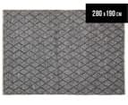 Handwoven Viscose & Wool 280x190cm Rug - Blue 1