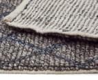 Handwoven Viscose & Wool 280x190cm Rug - Blue 5