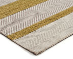 Handwoven Cotton & Wool Flatweave 225x155cm Rug - Green 2