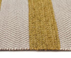 Handwoven Cotton & Wool Flatweave 280x190cm Rug - Green 3