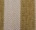 Handwoven Cotton & Wool Flatweave 320x230cm Rug - Green 4