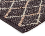 Handwoven Viscose & Wool 225x155cm Rug - Charcoal 2