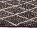 Handwoven Viscose & Wool 225x155cm Rug - Charcoal 3