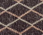 Handwoven Viscose & Wool 225x155cm Rug - Charcoal 4