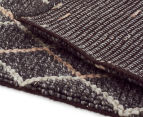 Handwoven Viscose & Wool 225x155cm Rug - Charcoal 5