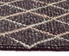 Handwoven Viscose & Wool 280x190cm Rug - Charcoal 3