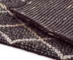 Handwoven Viscose & Wool 280x190cm Rug - Charcoal 5