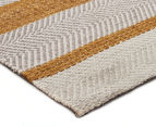 Handwoven Cotton & Wool Flatweave 280x190cm Rug - Yellow 2