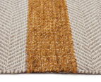 Handwoven Cotton & Wool Flatweave 280x190cm Rug - Yellow 3