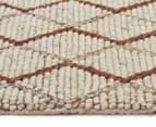 Handwoven Viscose & Wool 225x155cm Rug - Copper 3