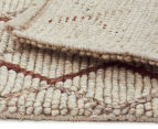 Handwoven Viscose & Wool 225x155cm Rug - Copper 5