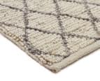 Handwoven Viscose & Wool 225x155cm Rug - Ivory 2