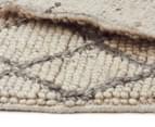 Handwoven Viscose & Wool 225x155cm Rug - Ivory 5