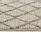 Handwoven Viscose & Wool 280x190cm Rug - Ivory 3