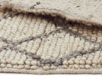 Handwoven Viscose & Wool 320x230cm Rug - Ivory 5