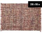 Handwoven Pure Wool Flatweave 280x190cm Rug - Multi 1