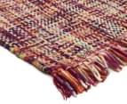 Handwoven Pure Wool Flatweave 280x190cm Rug - Multi 2