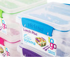 Sistema 1.2L Lunch Plus To Go Container 4-Pack - Blue/Pink/Green/Purple 5