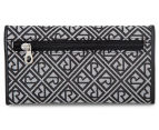 Relic Logo Jacquard Checkbook Wallet - Grey/Black 3