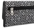 Relic Logo Jacquard Checkbook Wallet - Grey/Black 6