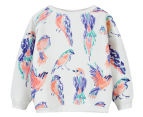 Funky Babe Kids' Birds Jumper - Cream 1