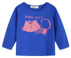 Funkybabe Junior Purr-fect Long Sleeve Tee - Cobalt 1