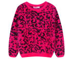 Funky Baby Kids' Leopard Eyelash Jumper - Berry 1