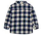UC Junior Check Shirt - Navy 2