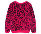 Funky Baby Kids' Leopard Eyelash Jumper - Berry 2