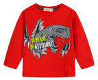 BQT Baby Dinosaur Long Sleeve Tee - Red 1