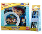 Zak! Jake & the Never Land Pirates 5-Piece Mealtime Set - Blue 2
