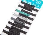 Conair Bobby Pins 130-Piece Value Pack - Black/Multi  2