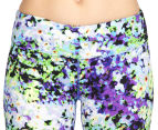 Calvin Klein Performance Women's Oleander Print Crop Tight - Blue Violet Combo 3