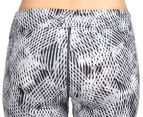 Calvin Klein Performance Women's Amalgamate Print Crop Tight - Neutral 4