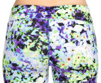 Calvin Klein Performance Women's Oleander Print Crop Tight - Blue Violet Combo 4