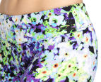 Calvin Klein Performance Women's Oleander Print Crop Tight - Blue Violet Combo 5