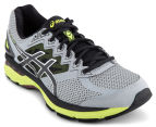 ASICS Men's GT-2000 4 Shoe - Mid Grey/Black/Safety Yellow 2