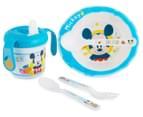 Zak! Mickey Mouse Infant Mealtime Set - Blue 1