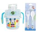 Zak! Mickey Mouse Infant Mealtime Set - Blue 6