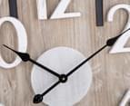 XL 60cm Scandi Monochrome Clock - Natural/Black/White 4